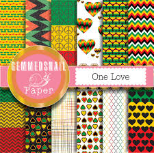 rasta digital paper rasta patterns for your reggae party one