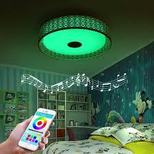 Deckenleuchte F Esszimmer Mobile Kontrolle Rgb Musik Led Deckenleuchte Mit Bluetooth Steuer