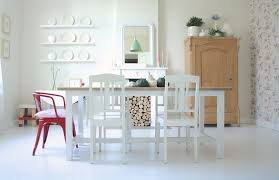 Shabby Chic Style Wallpaper by Painting Wood Floors Dining Room Shabby Chic Style With Pendant