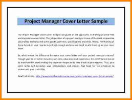 project manager cover letter 10 it project manager cover letter sle ledger paper