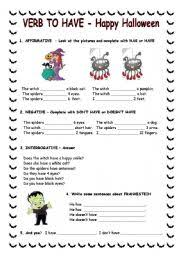 verb to have with halloween theme