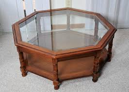 wood coffee table with glass top furniture octagon coffee table ideas hd wallpaper pictures hexagon