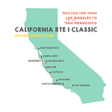 Pacific Coast Highway Map Planning A Trip Driving Up Ca Route 1 Classic The Scenic Pacific