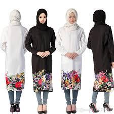 2017 bohemia style muslim women dress islamic printing hijab
