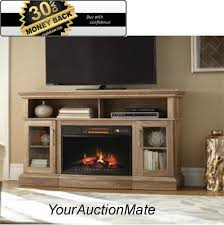 electric fireplace tv stand media console for tvs to 47