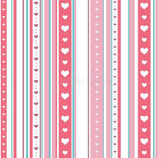chic wrapping paper chic seamless striped pattern with hearts endless texture for