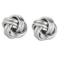 knot earrings silver knot earrings salmaearrings