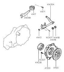 hyundai accent clutch 41100 22630 genuine hyundai disc assy clutch