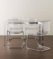 sedie ikea soggiorno sedie trasparenti e la stanza sembra pi禮 grande ikea acciaio e