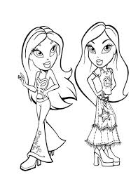 bratz dancing coloring pages hellokids com