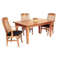 solid wood craftsman style dining table crafted in vermont with