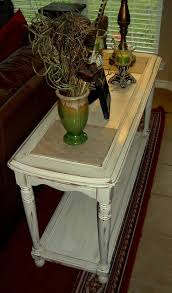 Distressed Sofa Table by Highly Distressed Antiqued White Sofa Table Facelift Furniture
