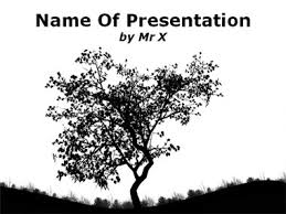 lonesome tree powerpoint template