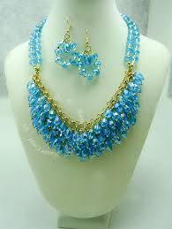 gold crystal beaded necklace images Fleur crystal beads cascade statement necklace hautecorals jpg