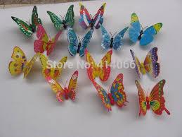 shop 20pcs butterfly 3d wall stickers glass fridge