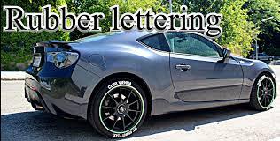 subaru frs white toyota gt86 rubber tire lettering tread wear scion frs subaru