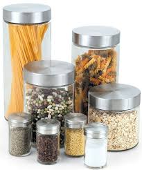 kitchen canisters and jars glass spice jars set of 8 contemporary kitchen canisters and