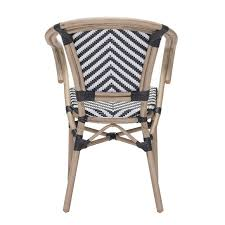 Check Armchair Chair Paris Dining Arm Chair In Black And White Set Of 2 Check