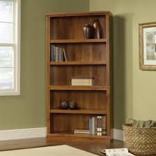 Sauder Bookcase With Glass Doors by Cabinet Corner Sauder Bookcase With 5 Shelf On Laminate Wood