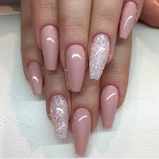 pink with glitter accent nail nails pinterest glitter accent