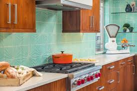 Turquoise And Orange Kitchen by Joe Myers Construction