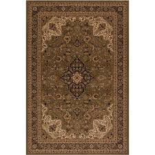 Concord Global Area Rugs Concord Global Trading Classics Medallion Kashan Green 7