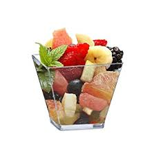 amazon com mini 2 ounce square dessert cups pack includes 100