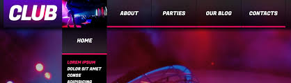website template 42358 night club music custom website template