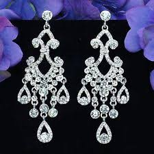 chandelier wedding earrings bridal chandelier earrings ebay