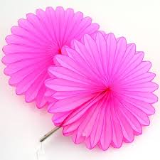 paper fan 5 hot pink tissue paper fan decorations pipii