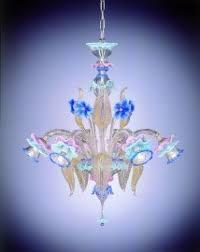 Blown Glass Chandeliers Venetian Glass Chandeliers 6 Lights Venetian Glass Chandelier
