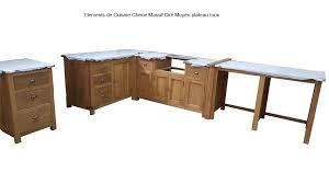meuble cuisine chene massif cuisine cagne chic
