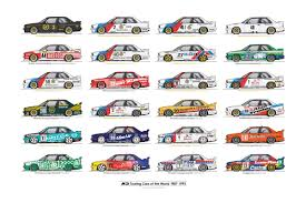 bmw car posters every bmw m3 touring car chion on one poster