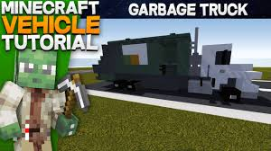 minecraft dump truck minecraft vehicle tutorial garbage truck youtube