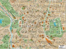 Madrid Spain Map by Geoatlas City Maps Madrid Map City Illustrator Fully