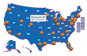 map of nba teams use custom images as location markers html5 javascript