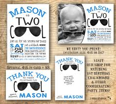monster truck invitation second birthday party invitation two cool shirt birthday