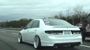 stancenation honda accord hellaflush becky accord on work wheels cruising in the highway