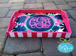 monogrammed tray lilly pulitzer secret garden monogrammed tray craftiness