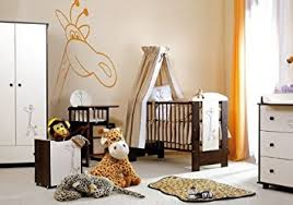Luxury Baby Cribs Uk by Luxury Baby Cot Brand New Wooden Safari Giraffe Bed Safety