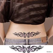 wholesale female women butterfly tattoo stickers