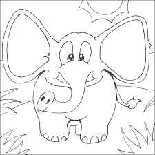 elephant color pages 59 seasonal colouring pages