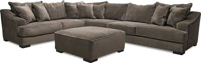 Sectional With Ottoman Sofa Master Living Room Monterrey Gray Sectional Ottoman 55