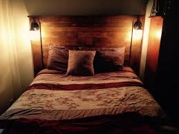 Headboards Made With Pallets Diy Pallet Headboard With Lights Pallet Wood Projects
