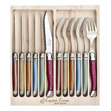 laguiole jean neron cutlery set 12 piece mixed colour for 99 95