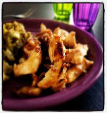 cuisiner aiguillette de poulet aiguillettes de poulet au miel cannelle et vinaigre balsamique