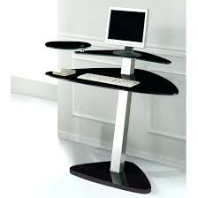Glass Corner Desks Corner Black Desk Bethebridge Co