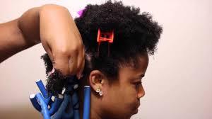 flexi rod stretch long 4b c hair twisted flexi rod set youtube