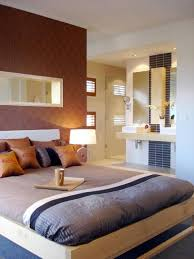 modern guest bedroom decor with platform bed and wallpaper guest