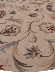 Cream Round Rug Buy Vintage Hand Tufted Woollen Cream Round Rug K00516 Online